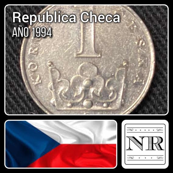 Republica Checa - 1 Koruna - Año 1994- Km # 7 - Corona