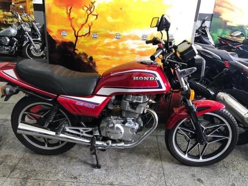 Honda Cb 400 1984 Vermelha - King Motos