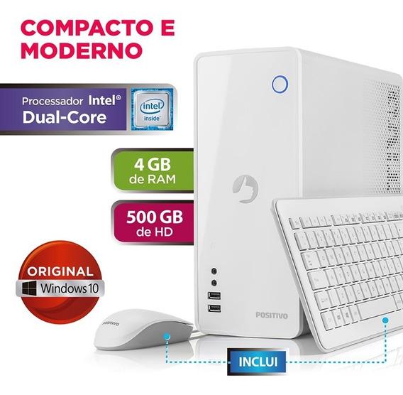 Computador Station C4500a Celeron Windows 10 Home - Branco