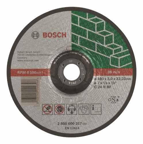 Disco Abrasivo Carburo De Silicio Corta Piedra 180 Mm Bosch