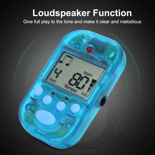 Imagen 1 de 9 de Mini Tap M50 Tempo M50 Metrónomo Clip Musical Instrumen