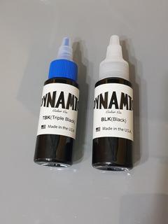 2 Tintas Dynamic Black Y Triple Black Una Onza