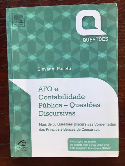 Afo E Contabilidade Pública - Questões Discursivas