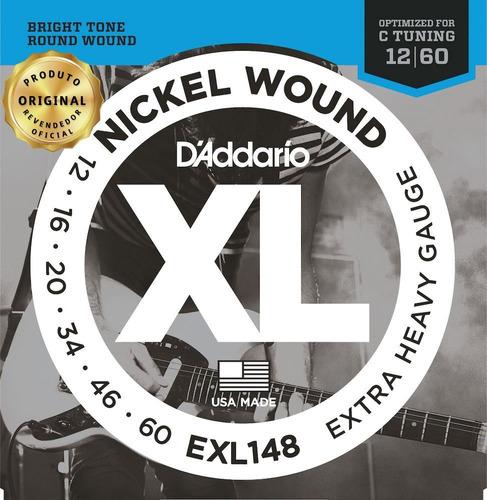 Encordoamento Guitarra Daddario Exl148 012 - 060 Extra Heavy