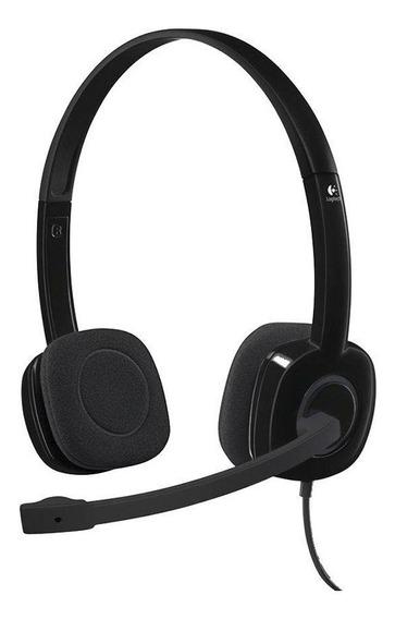 Headset Logitech H151 Stereo Com Fio Pc Mobile