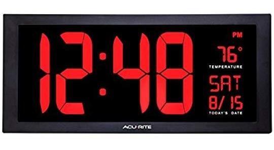 Reloj Digital Led Con Brillo De Atenuación Automática