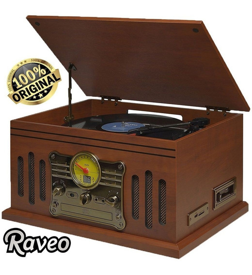Vitrola Raveo Stadio Vinil/ K7/ Cd / Fm/ Usb/ Sd/ Bluetooth