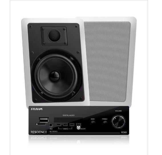 Kit Amplificador Residence Rd80 + 2 Arandelas Ret. - Frahm