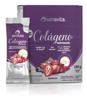 Colágeno Sanavita Verisol 30 Sachês Red Berries - Lançamento