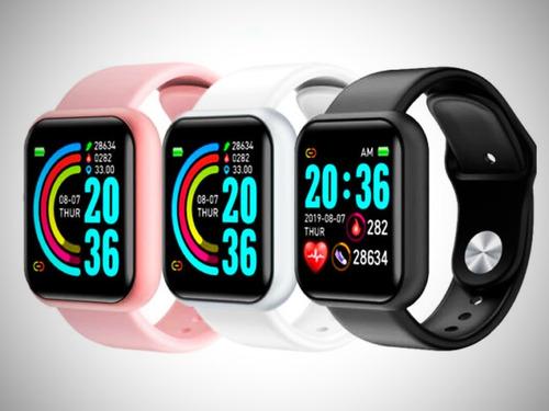Relogio Smartwatch D20 Feminino Rose iPhone Android Samsung | Mercado Livre