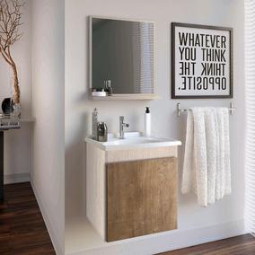 Gabinete Banheiro Espelheira E Tampo Gaam Slin Rov/wg 41,0cm