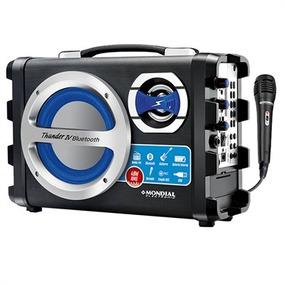 Caixa Som Amplificada P10 Bluetooth Microfone Radio Fm Usb