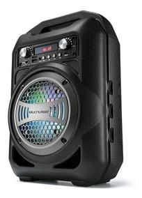 Caixa De Som Portátil 4 Bluetooth/fm/sd/p2/usb Preta Sp256