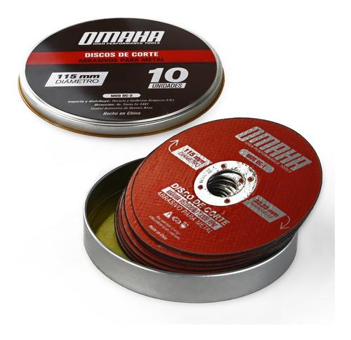 Disco De Corte 115 X 22 X 1 Mm 10 Uni Omaha Metales Lata