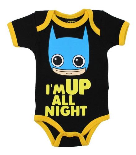 Pañalero Batman Chibi Ropa Bebe Despierto Noche Dc 26217