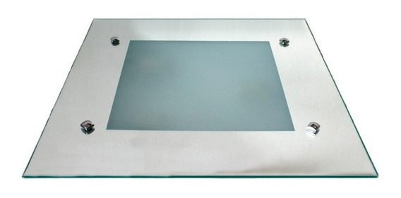 Plafon De Embutir Quadrado Vidro Espelhado 30x30cm