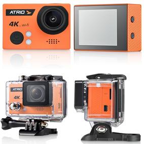 Câmera De Ação Atrio 4k Fullsport Dc185 Wifi E Tela De 2.0