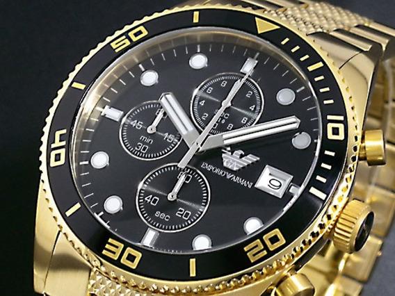 Relógio De Luxo Empório Armani Ar5857 Praticamente Novo Orig