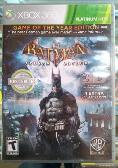 Jogo Xbox 360 - Batman - Arkham Asylum - Original