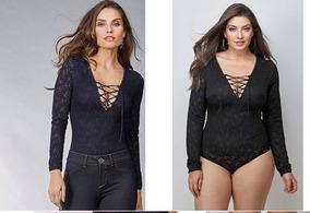 88a6de6a9 Demillus Body Rendado - Camisetas e Blusas Body no Mercado Livre Brasil
