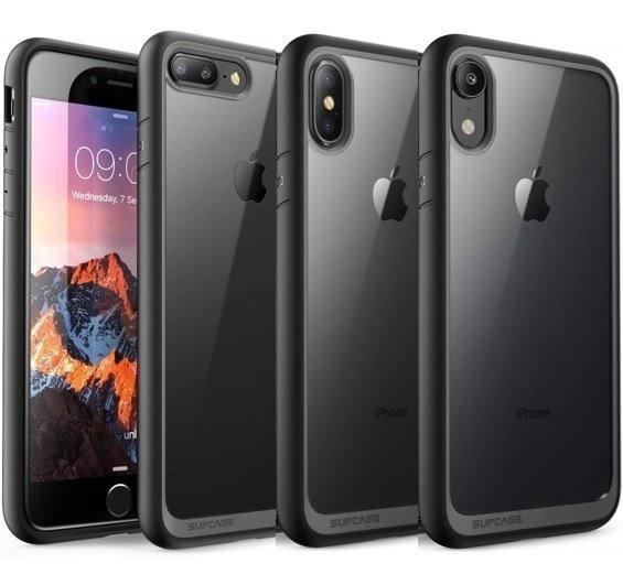 Funda Protectora iPhone 7 8 7+ 8+ Plus X Xr Xs Max Transparente Marco Rigido Negro Supcase Unicorn Beetle Envio Gratis