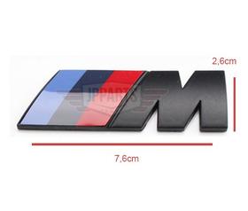 Acessórios Bmw 120i 318i 320i 328i Emblema M Preto Original