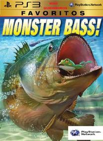 Monster Bass Pescaria Vara De Pesca Ps3 Digital Fishing