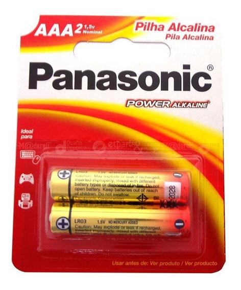 Pilha Alcalina Palito Aaa 2 Unidades - Panasonic 3 Packs