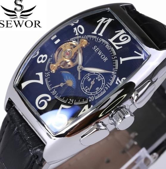 Relógio Masculino Semi Automático Quadrado Original C.26