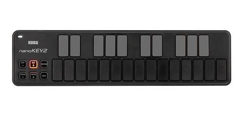 Controlador Midi Usb Korg Nanokey 2 Nanokey2 Negro Nuevo