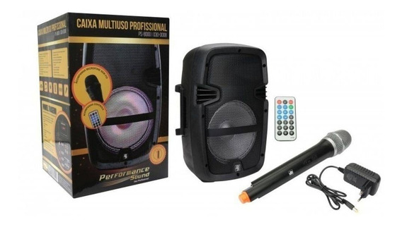 Caixa De Som Performance Sound Ps-8000 8 Usb/sd/fm/bt/aux