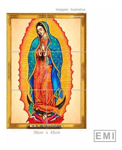Quadro Azulejos 30x45 Nossa Senhora De Guadalupe