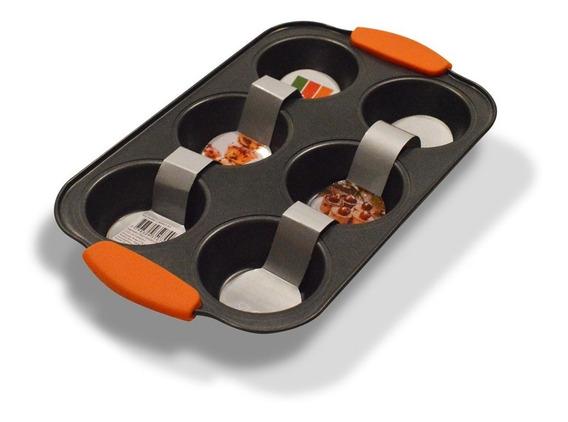 Molde Cupcakes Muffins Teflon Antiadherente Balladares 6 Un.