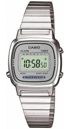 Relógio Casio Feminino Prateado La670wa-7df Original