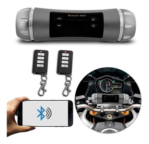 Caixa De Som De Moto Bluetooth Mp3 Usb Prova D