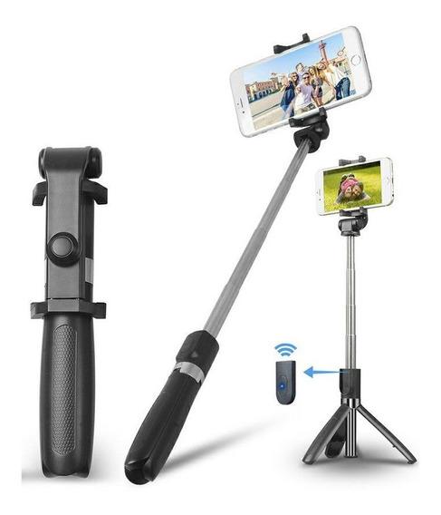 Tripé Pau De Selfie Bluetooth Controle Sem Fio Ios Android