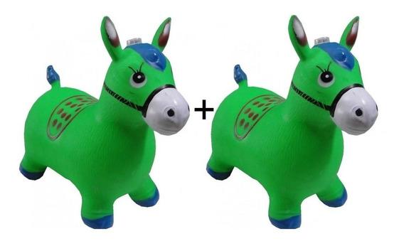 2 Brinquedo Cavalo Borracha Upa Up Pula Pula Ideal Criança !