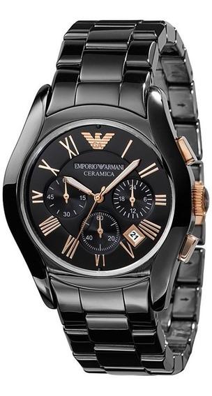 Reloj Emporio Armani Ceramica Negro Crono Ar1410 Garantia