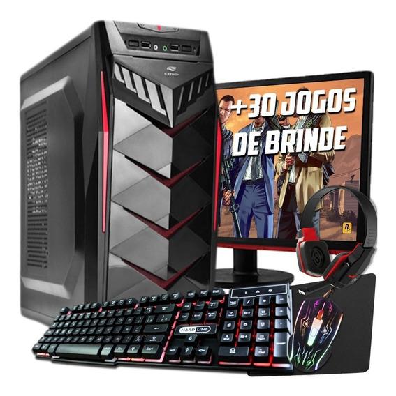 Pc Completo Gamer Com Wi-fi E Monitor Lcd! Gtx 1050ti