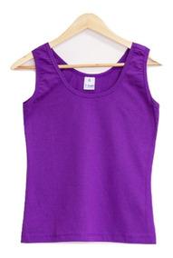 Kit 6 Camiseta Regata Feminina Camisa Atacado 100% Algodão
