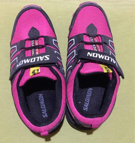 Zapatillas Salomon Niñas Rosas