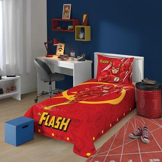 Jogo De Cama Liga Da Justiça The Flash 2 Peças Lepper