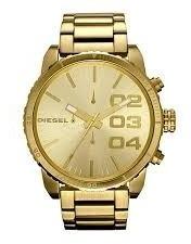 Relógio Diesel Masculino Dz5302 Original Dourado