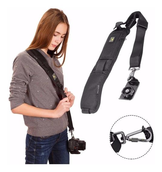 Alca De Ombro Quick Strap P/ Camera Dslr Nikon Canon Etc
