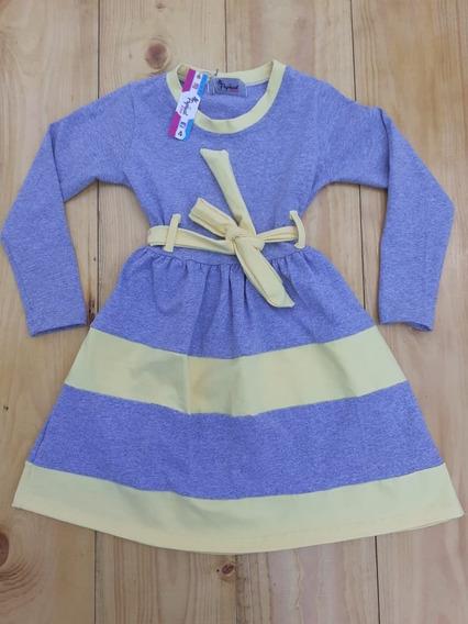 Vestido Moda Evangelica Infantil Manga Longa Cotton 4 Ao 10