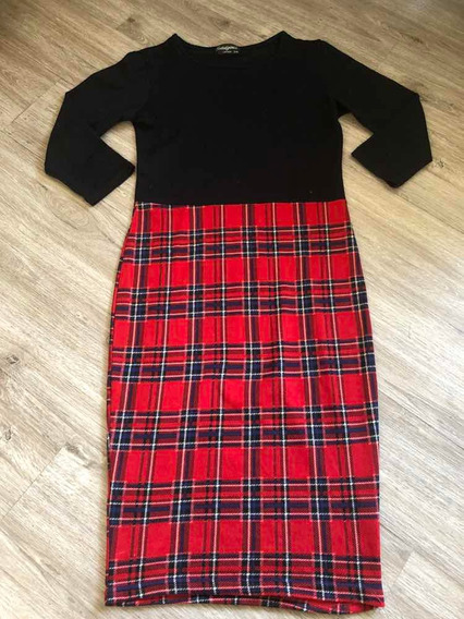 Vestido Tipo Bodycon Marca Indulgence London Tartan S