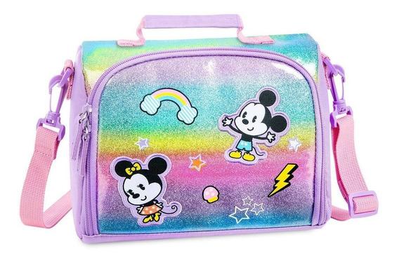 Disney Store Mickey Y Minnie Mouse Lunchera Nueva!!