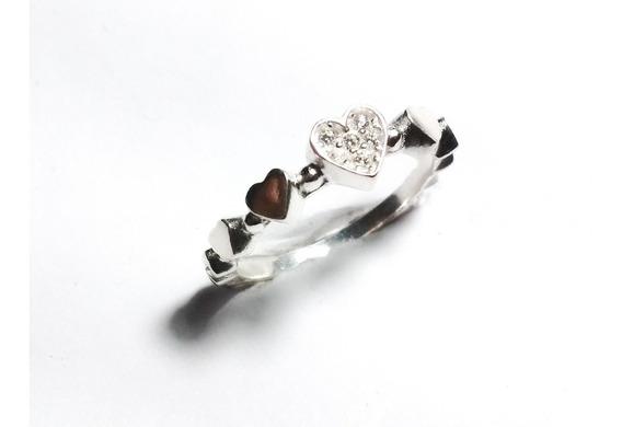 Anel Prata 925 Pandora Stilo Coração