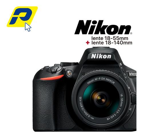 Cámara Nikon D5600 Incluye Lente18 55 Mm + Lente 18-140mm