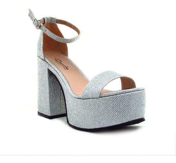 Sandalias Zapatos Mujer Fiesta Taco Palo Articulo 725 Nh